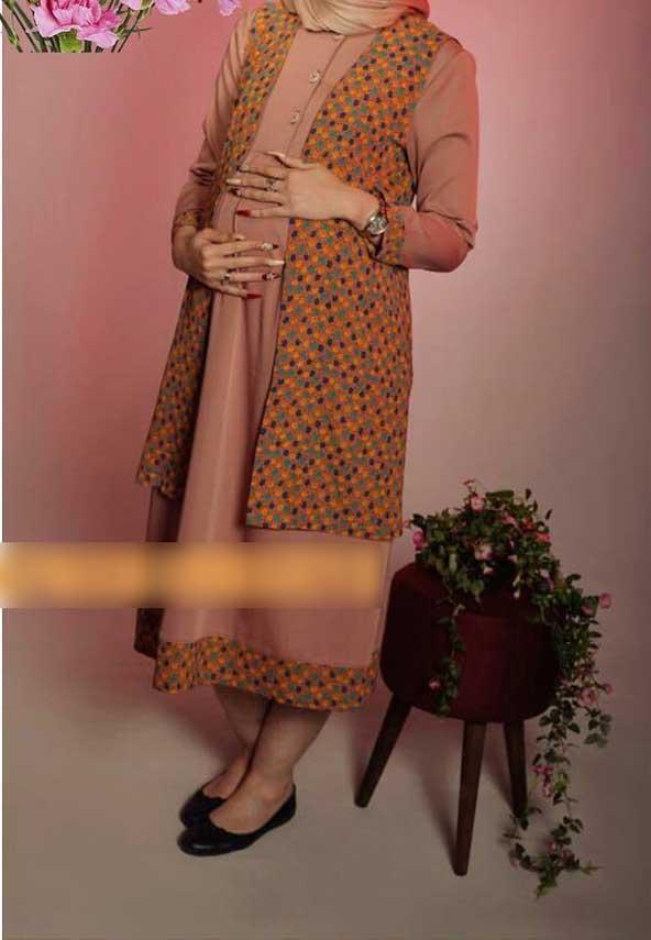مدل مانتو ترکیبی بارداری 98 بسیار شکیل