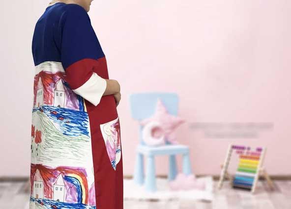 مدل مانتو هنری بارداری برای خانم های شیک پسند