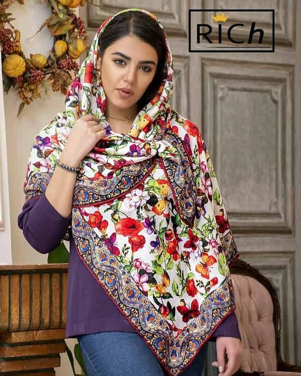 239a0f17a2e4d47e99913e16a98bb46d donoghte.com  - ۴۲ مدل شال و روسری جدید دخترانه و زنانه مجلسی و اسپرت نخی ۱۴۰۰