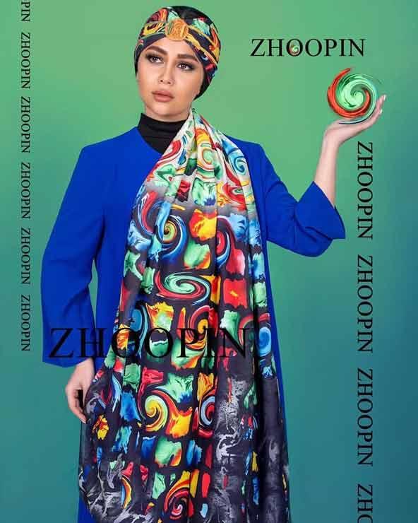 شال ترک دخترانه آبرنگی مدل جدید 98 با طرحی زیبا