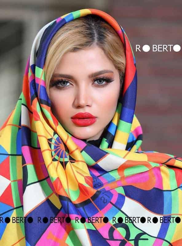 روسری چهارخونه چند رنگ مدل جدید