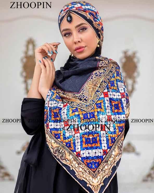a060a55df2e6a37fae8b9d31c077a34f donoghte.com  - ۴۲ مدل شال و روسری جدید دخترانه و زنانه مجلسی و اسپرت نخی ۱۴۰۰