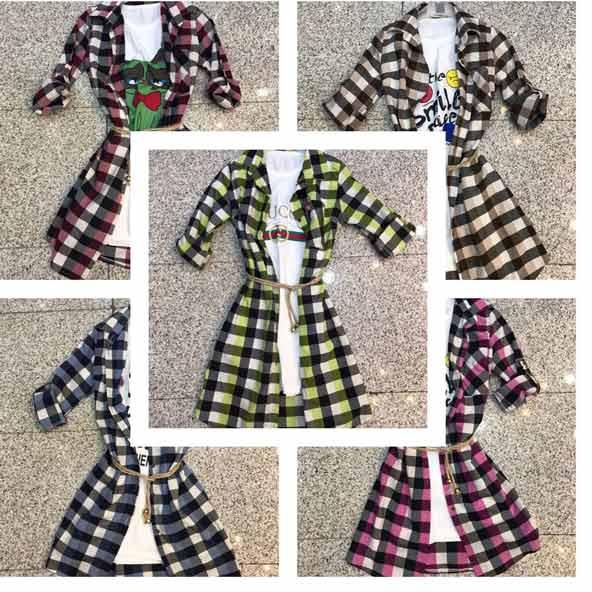 مدل مانتو چهارخونه دخترانه شیک در رنگهای مختلف