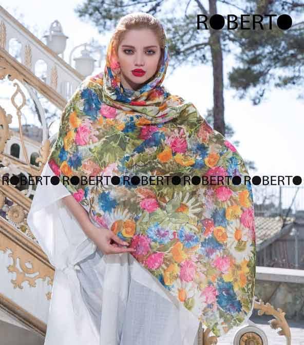 مدل روسری گل گلی رنگ روشن زنانه 98