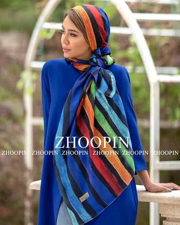 ff7b483e786088ff45ffe3c5f658e69b donoghte.com  - ۴۲ مدل شال و روسری جدید دخترانه و زنانه مجلسی و اسپرت نخی ۱۴۰۰