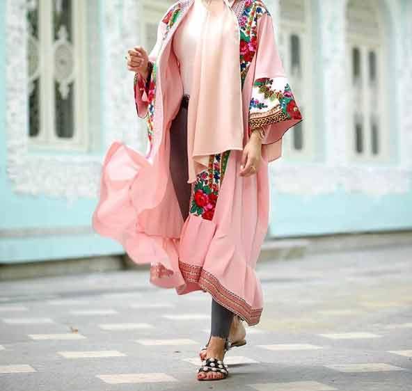 مدل مانتو سنتی گلدار زنانه 98