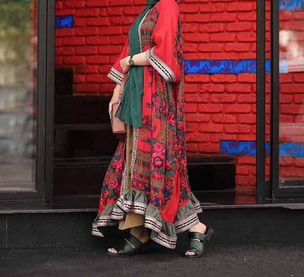 مانتو بلند زنانه مدل گلدار سال 98