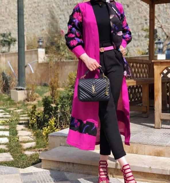 جدیدترین مدل مانتو دخترانه اسپرت گلدار