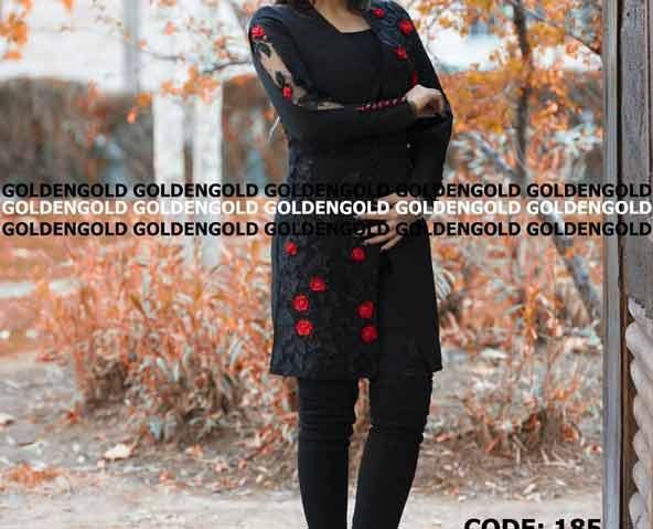 مانتو لاکچری آستین گیپور گلدار 98 بسیار زیبا