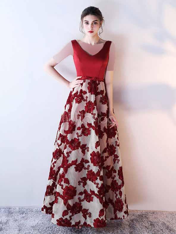 مدل پیراهن دامن گلدار بلند