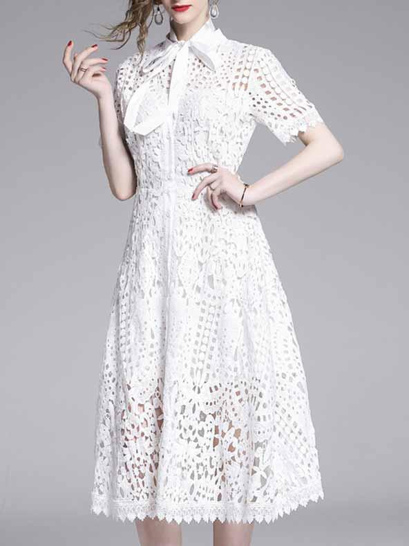 ۲۴ مدل لباس مجلسی گیپور کوتاه ۲۰۱۹ -۹۸ فوق العاده شیک و جدید