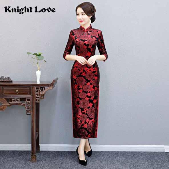مدلهای لباس مجلسی گلدار کره ای آستین دار