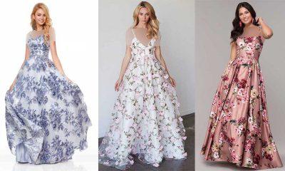 مدل لباس مجلسی گلدار 2019