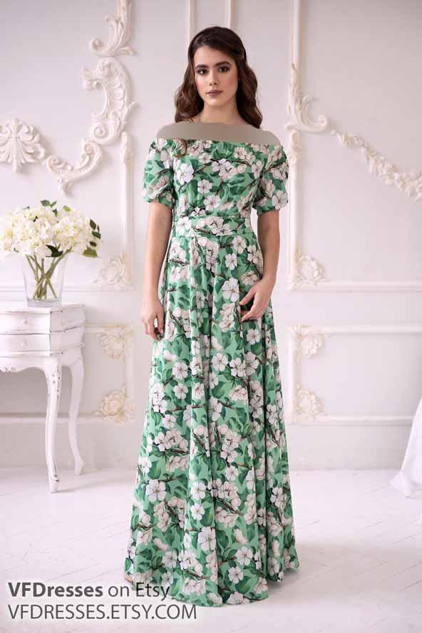 لباس مجلسی خوشرنگ مدل گل ریز
