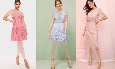 مدل لباس مجلسی گیپور کوتاه 2019