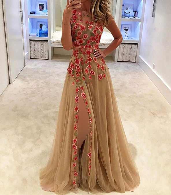 لباس مجلسی گلدار جدید در اینستاگرام