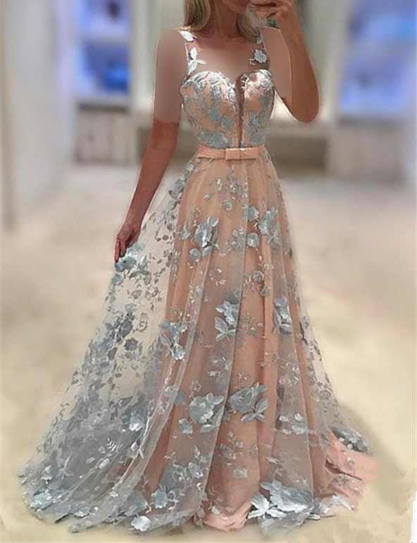 مدل لباس مجلسی گل برجسته بسیار زیبا ۱۴۰۰