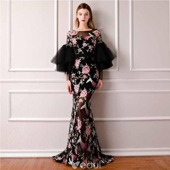لباس مجلسی حریر گلدار بلند شیک