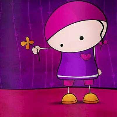 عکس کارتونی دخترونه برای پروفایل اینستا
