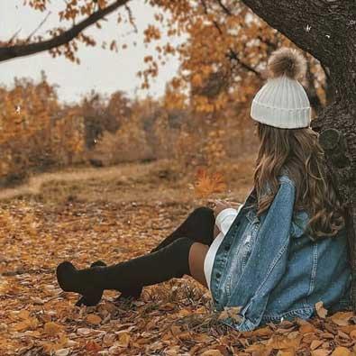 عکس جدید پروفایل پاییزی زیبا اینستا دخترونه
