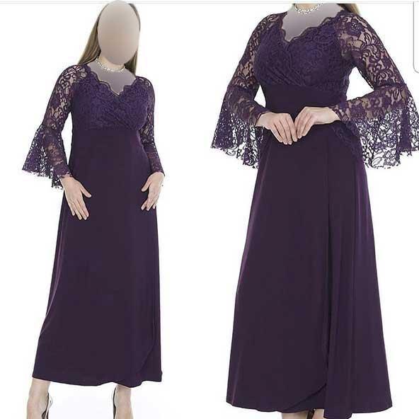 لباس زنانه مجلسی ۲۰۲۰ بالاتنه گیپور آستین توری