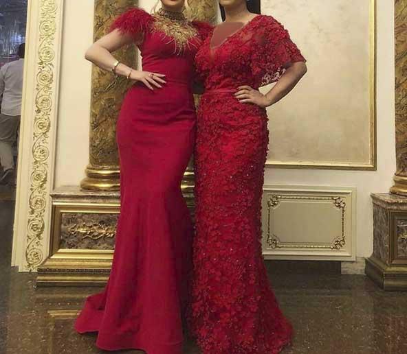 مدلهای لباس مجلسی قرمز رنگ ۲۰۲۰ بلند