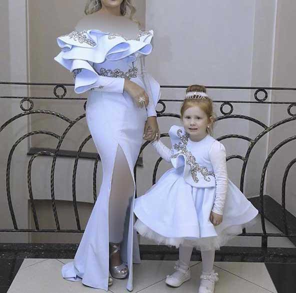 ست لباس مجلسی بسیار زیبای مادر و دختری سال ۲۰۲۰