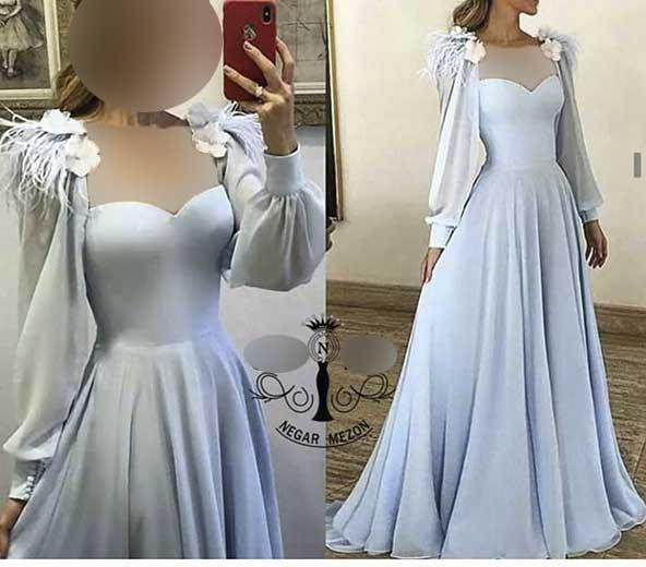 لباس مجلسی دامن چین دار بسیار شیک 2020