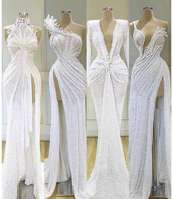 انواع مدلهای لباس مجلسی سفید رنگ ۲۰۲۰