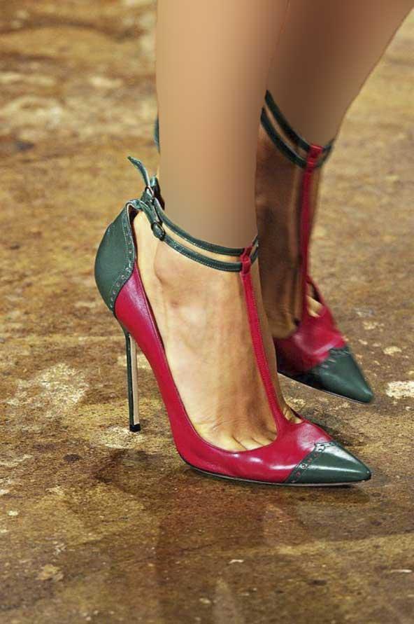 کفش مجلسی ۹۸ قرمز و مشکی لاکچری مناسب ست یلدا