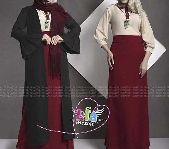 مدل لباس ترکیبی شومیز و دامن بلند برای شب چله 98