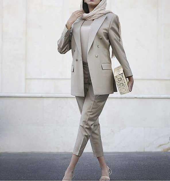 مدلهای کت شلوار زنانه در اینستاگرام