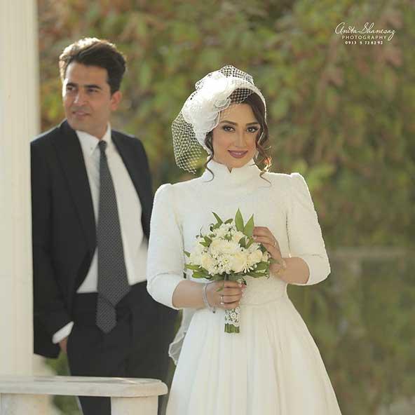 عکس عروسی الهام طهموری و همسرش