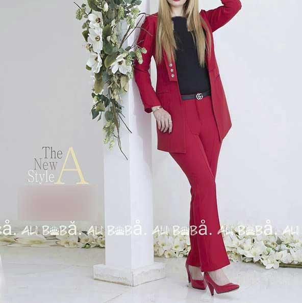 ست کت شلوار خوش استایل زنانه بسیار خوش رنگ ۱۴۰۰