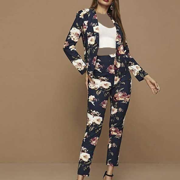 ست کت شلوار و تاپ ۲۰۲۱ برای خانم های طرفدار لباسهای گلدار