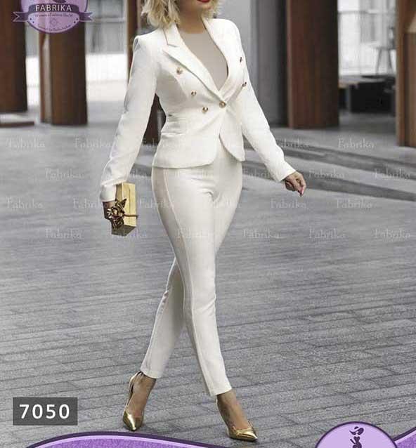 ۳۴ مدل کت شلوار زنانه ۲۰۲۰ مجلسی جدید که شما را جذابتر میکند