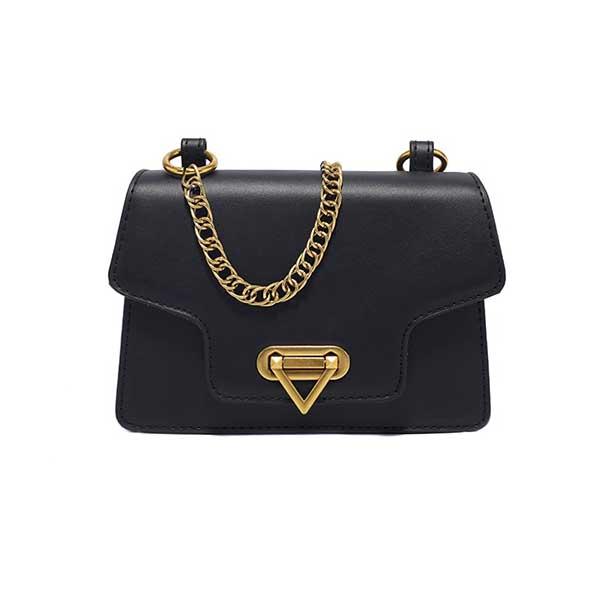 کیف زنانه ارزان قیمت بسیار زیبا با بند طلائی