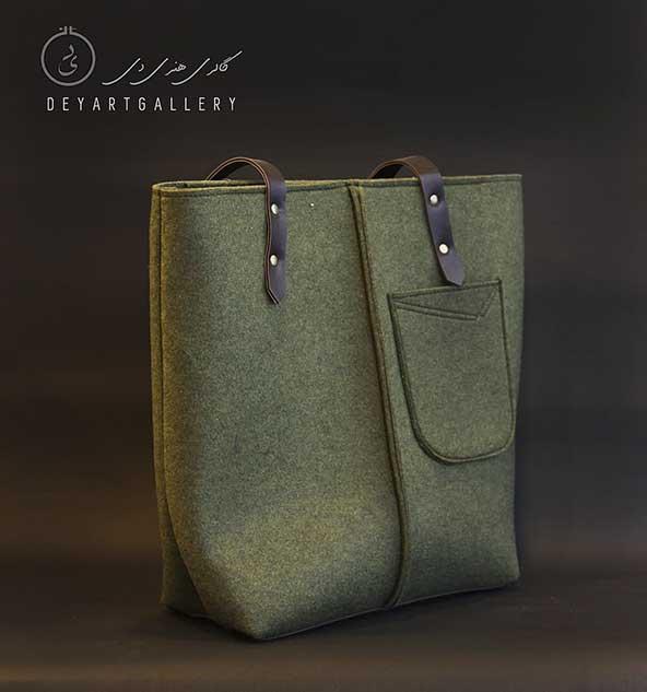 کیف کنفی جیب دار بزرگ برای خانمهایی با سلیقه های متفاوت