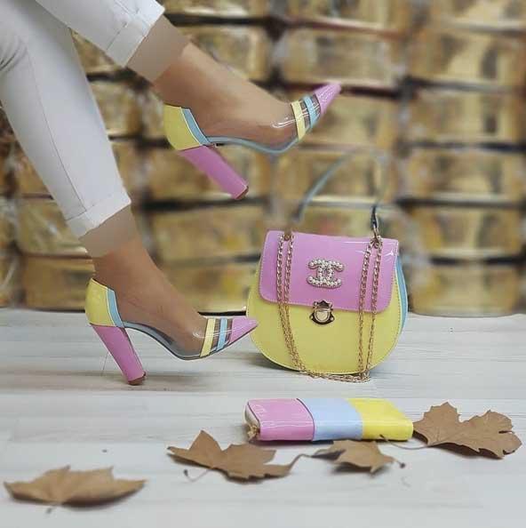 ست بسیار زیبای مدل کیف و کفش دخترانه ۹۹ با رنگ های جذاب