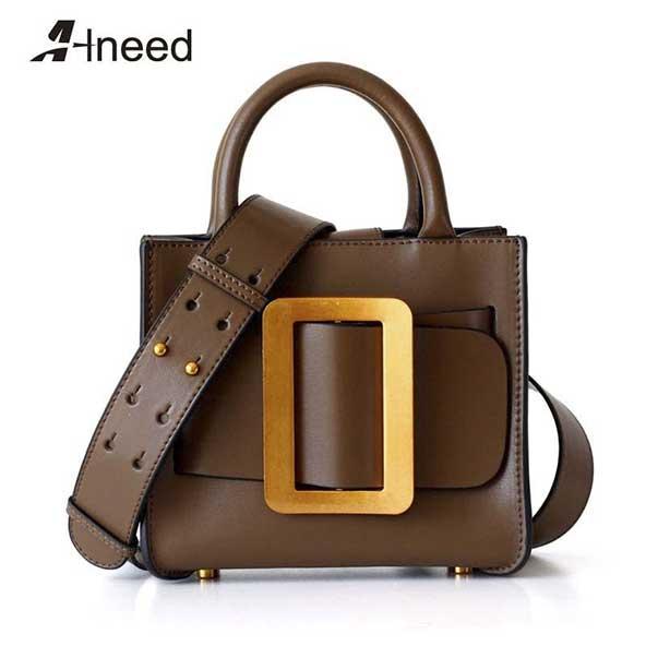 جدیدترین مدل کیف چرم اصلی دخترانه ۹۹ قهوه ای رنگ