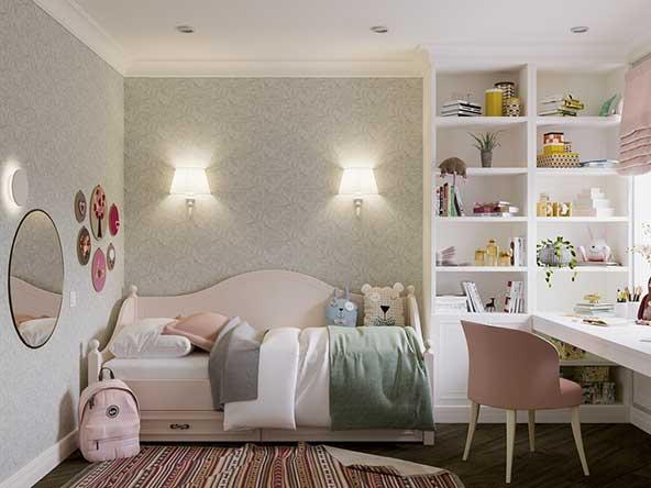 جدیدترین مدل اتاق کودک با وسایل و عروسکهای زیبای نمدی