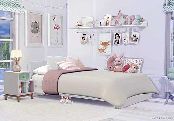 طراحی اتاق کودک دختر با عروسک ها و وسایل فانتزی بامزه و فانتزی