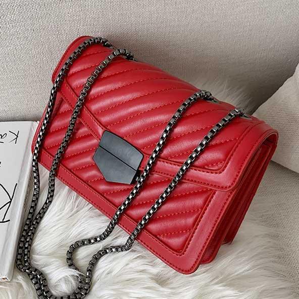 کیف دستی دخترانه ۲۰۲۰ بسیار شیک قرمز رنگ