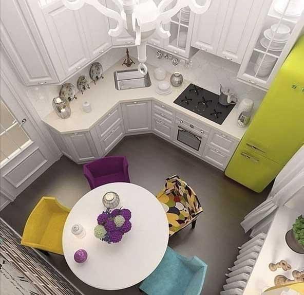 جدیدترین کابینت آشپزخونه برای فضاهای کوچک