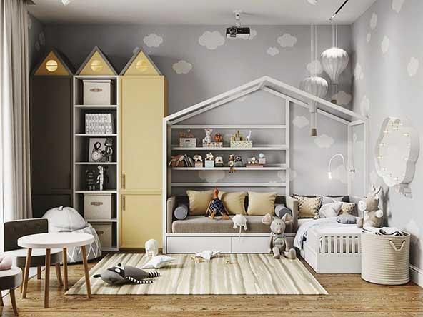 ۲۵ مدل تزیین اتاق کودک با طرح ها و دکوراسیون بسیار جذاب وسایل