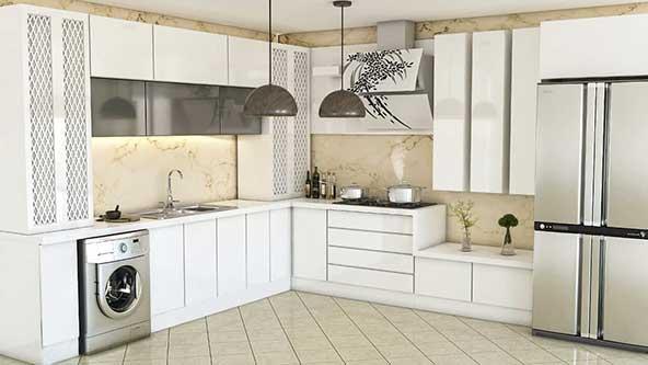 جدیدترین طرح کابینت ال برای آشپزخونه های کم فضا