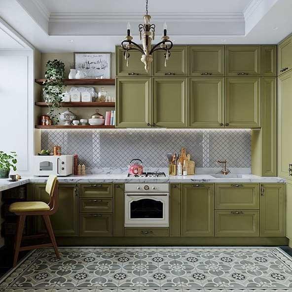 کابینت کاملا خاص سدری رنگ مدل ۲۰۲۰ برای آپارتمان های لاکچری
