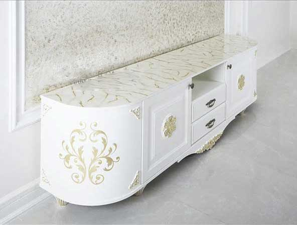 ۳۲ مدل میز تلویزیون جدید و شیک در طرح های دیواری، چوبی و مدرن