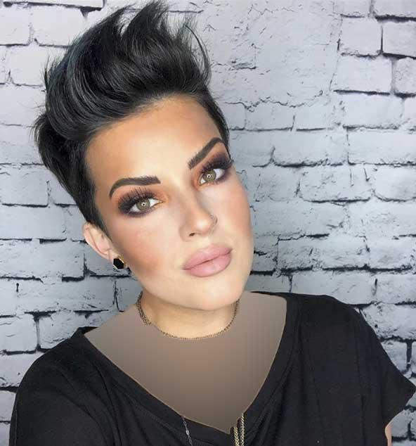 مدل کوتاهی موی سر بالای زنانه برای صورت های بیضی