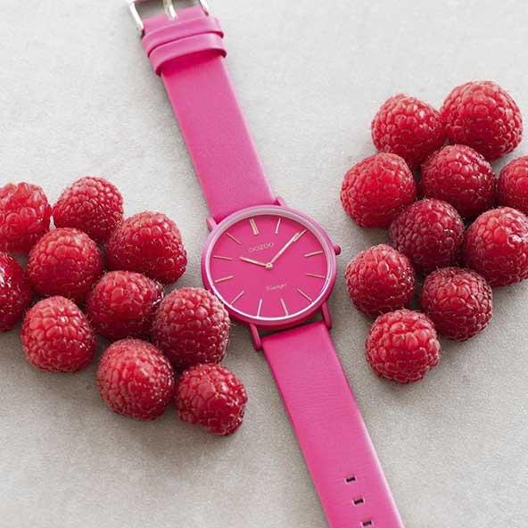 ساعت اسپرت صورتی رنگ برای خانم های خوش سلیقه